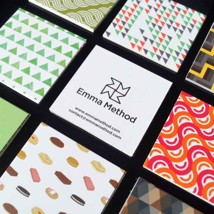 square business card designs fro emma method