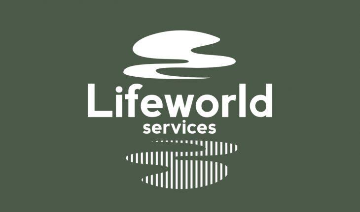 lifeworld services logo design