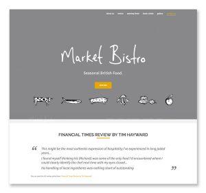 market bistro website design and development