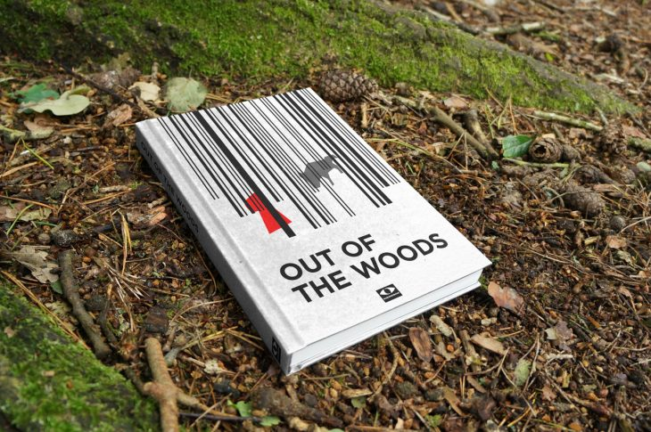 out of the woods illustrated book cover design