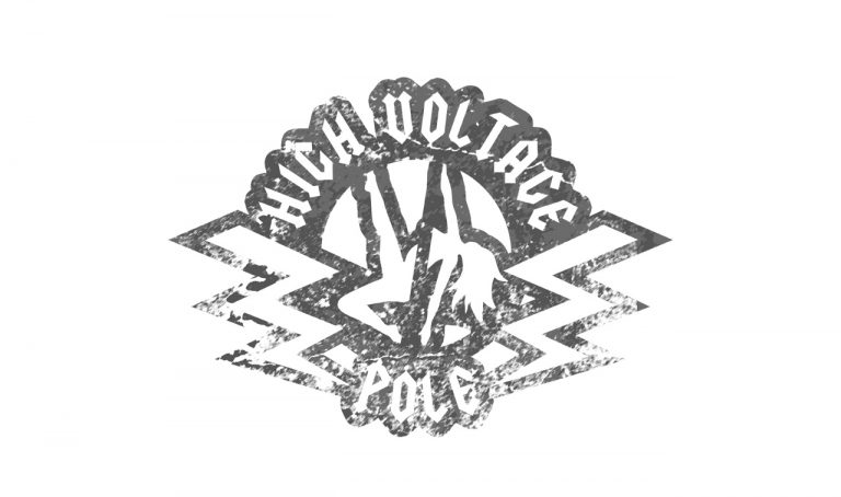 high voltage pole fitness logo design