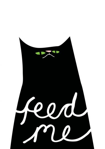 feed me cat iillustration