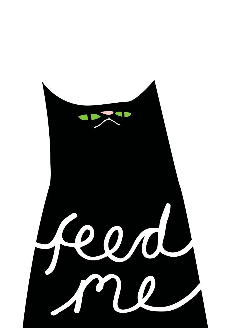 feed me cat iillustration