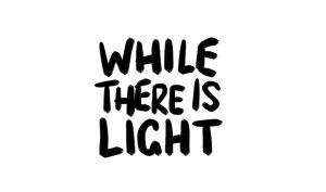 while there is light photography logo design