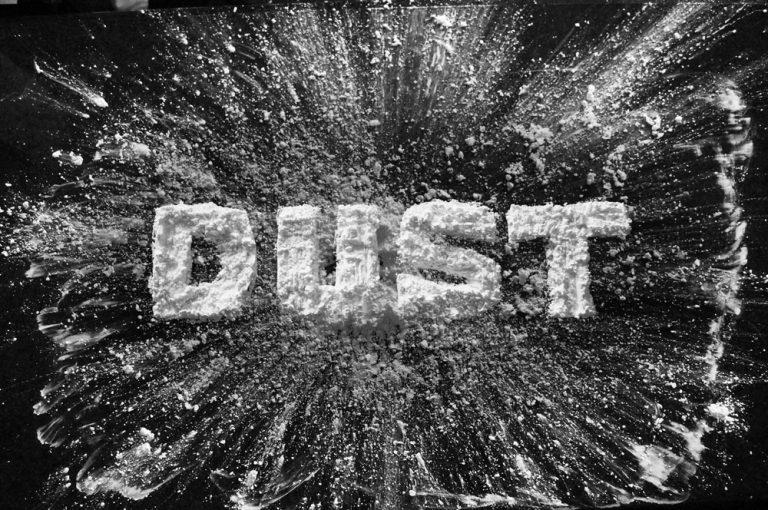 dust material lettering composite