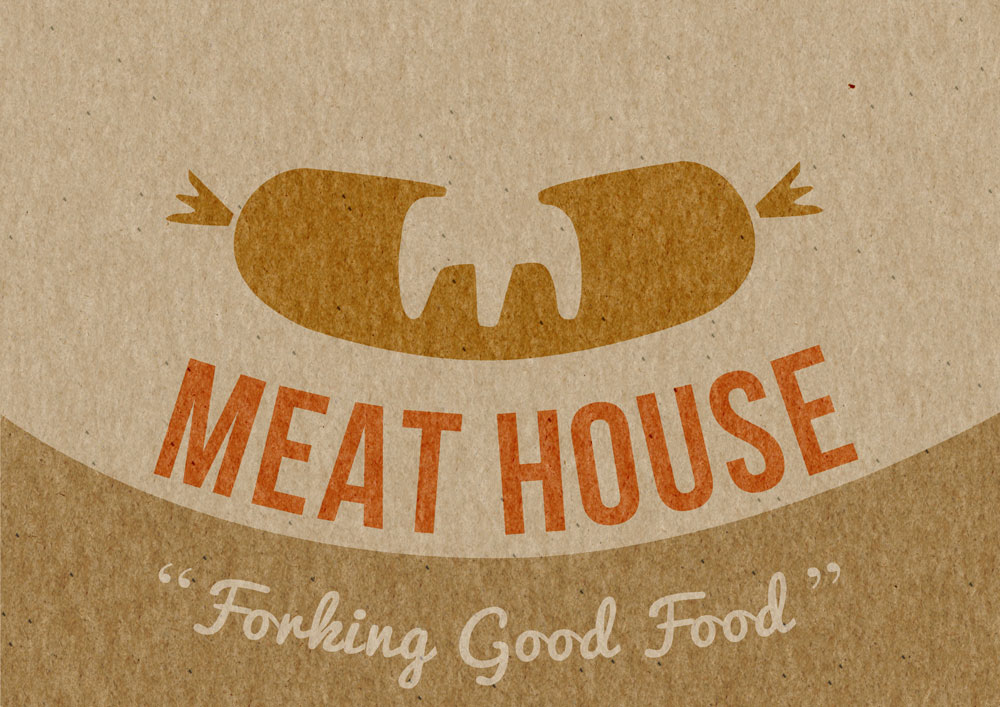 meat house illustrated logo