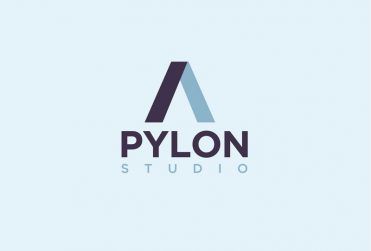 pylon geometric vector two-tone logo design