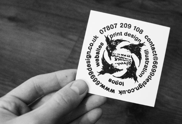 custom hand printed business card