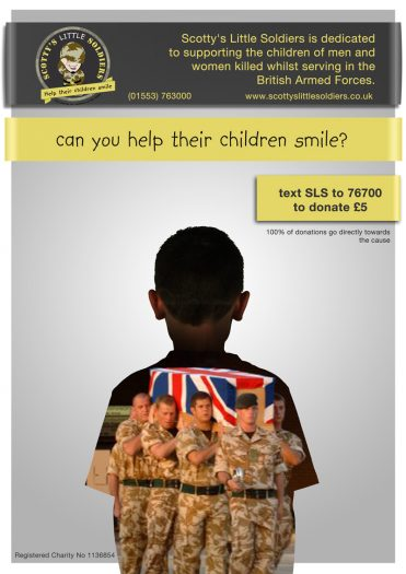 scottys little soldiers charity campaign poster