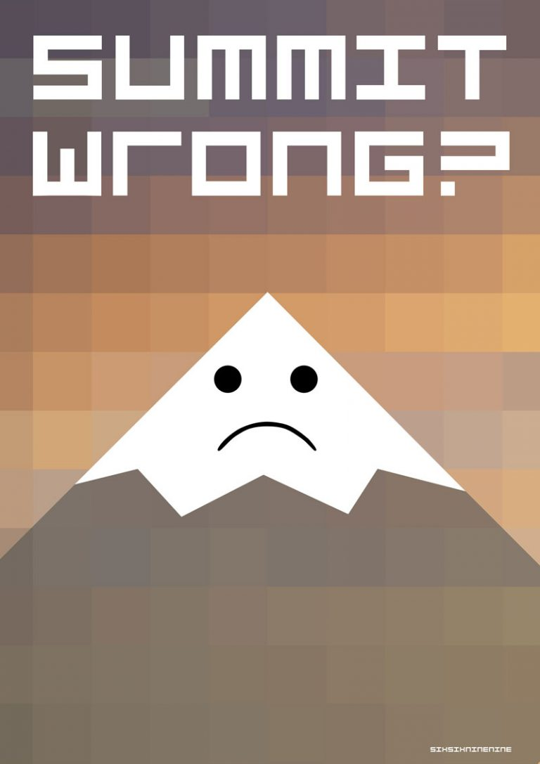 summit wrong digital illustration