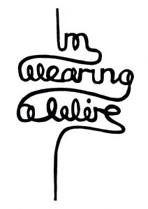 i'm wearing a wire hand lettering