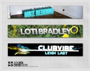web banner design for new djs at off the chart radio