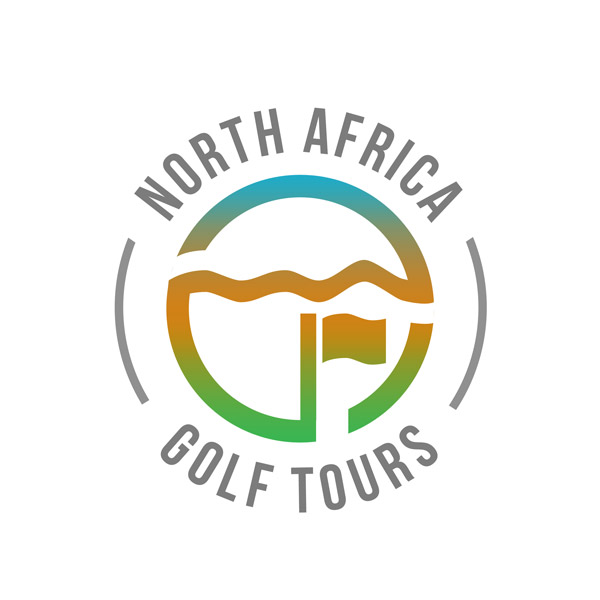 logo mark for a moroccan golf tours hospitality company