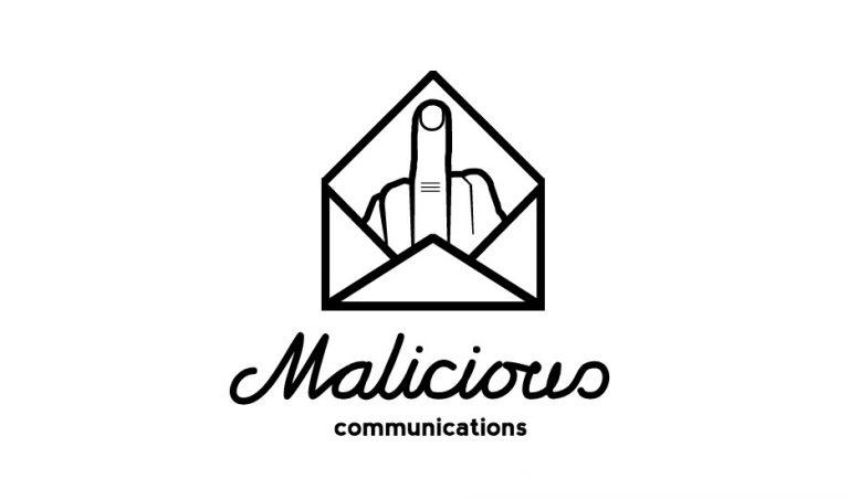 malicious communications logo concept