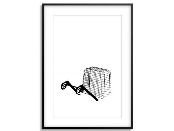 submerged shopping trolley art print
