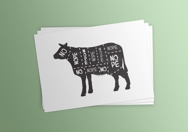 vegan cow meat cut chart